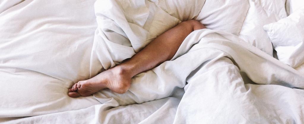 Gewichtsdecke gegen müde Beine